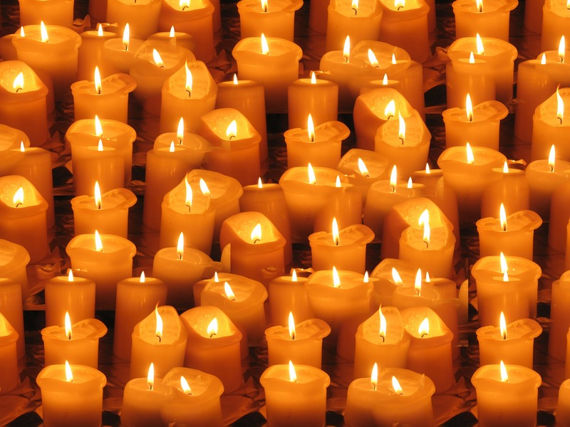 candles light lights evening 80461